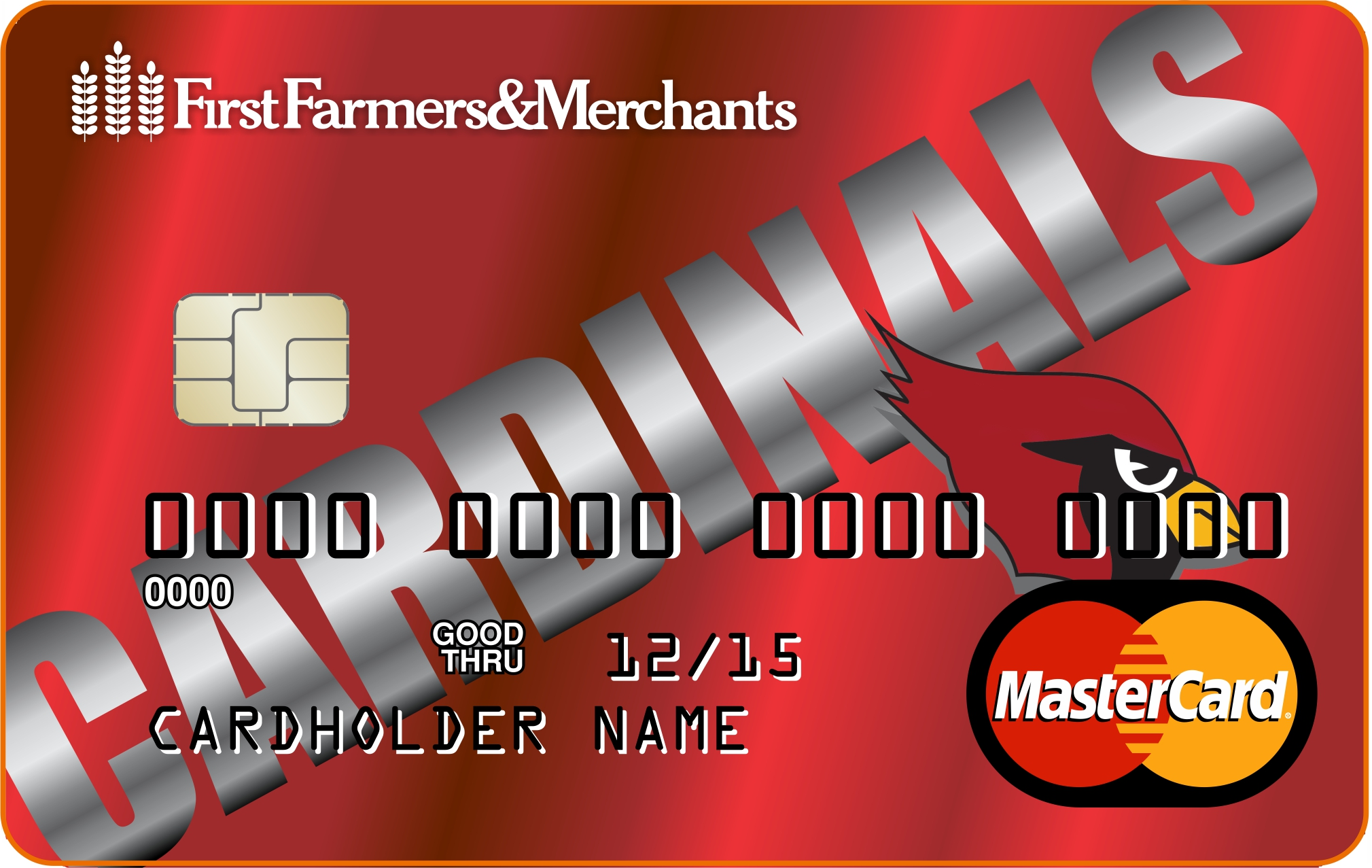 image of Fairmont Cardinals debit card