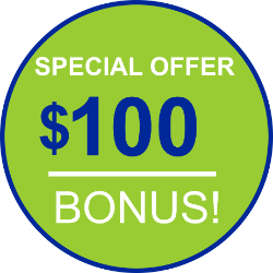 $100 Special Offer Bonus button