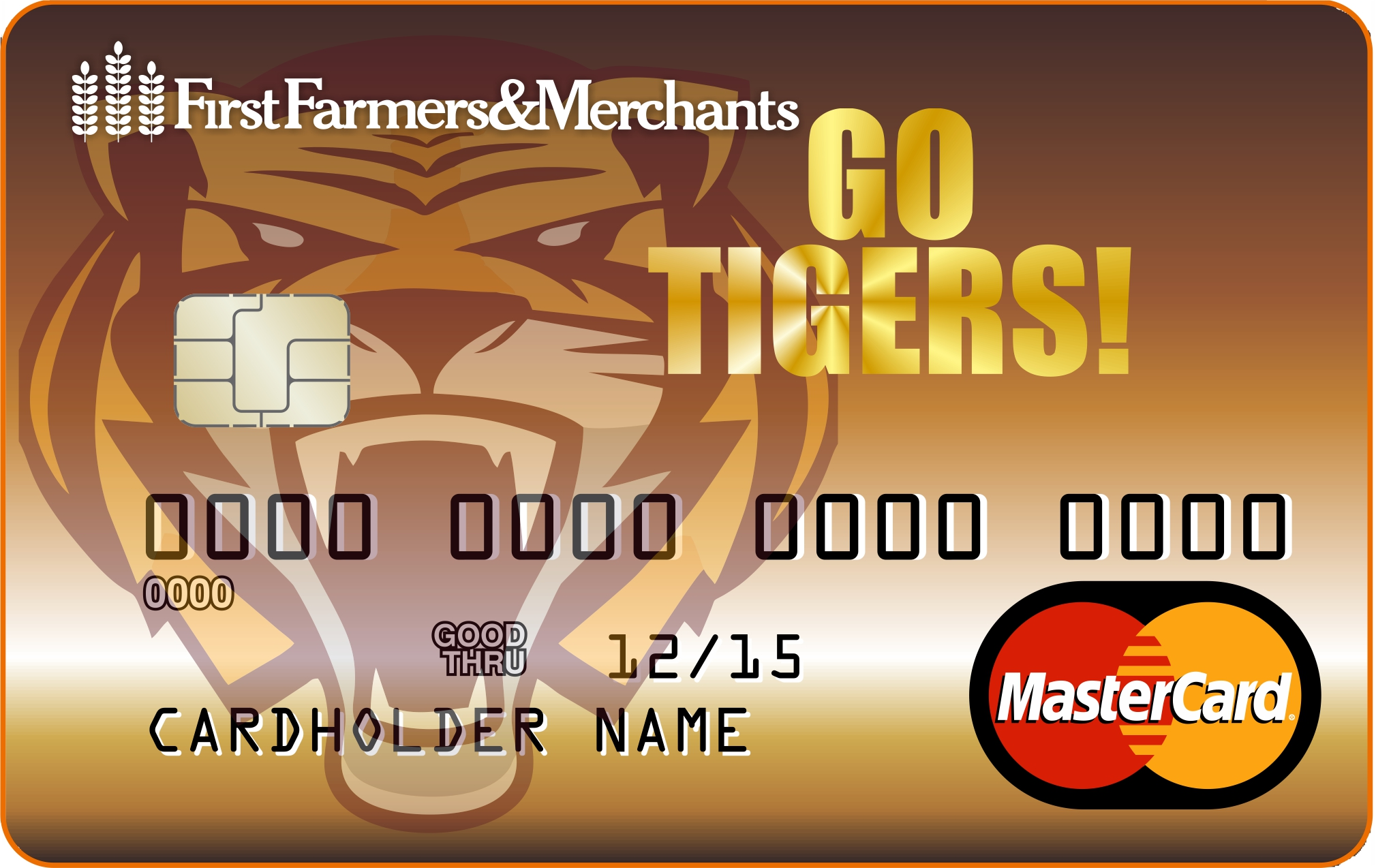 Image of Stewartville Tigers debit card.