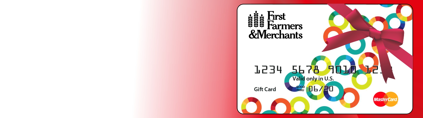 web banner of a gift card with a bow on it